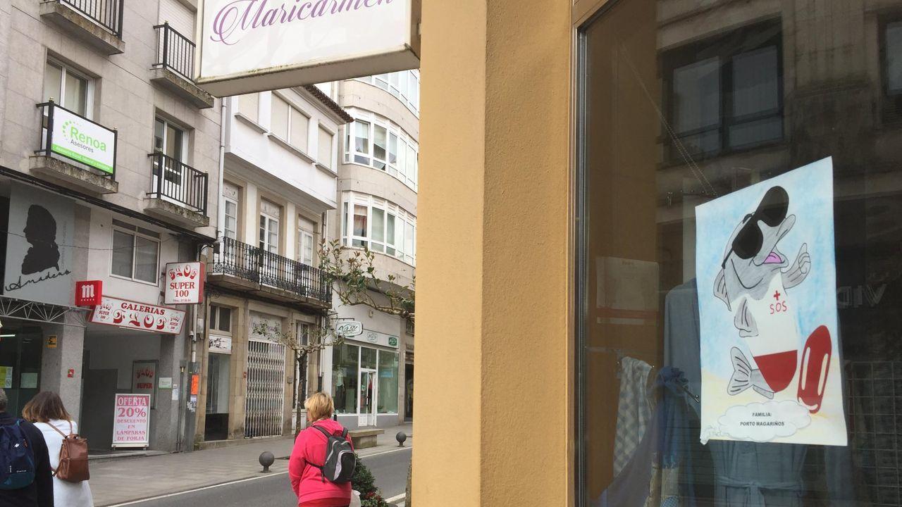 Ana Villarino, alcaldesa de Oímbra:«É moi posible que pases a Verín ou Portugal».Terrazas de Campo Castelo, en Lugo, recogidas