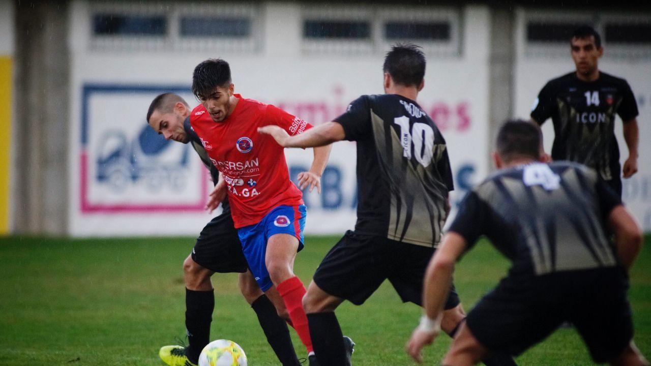 Los presidentes de la unión deportiva orensana y del Orense club de fútbol Ramon de Acosta y Camilo Diaz valoran el derby del sábado