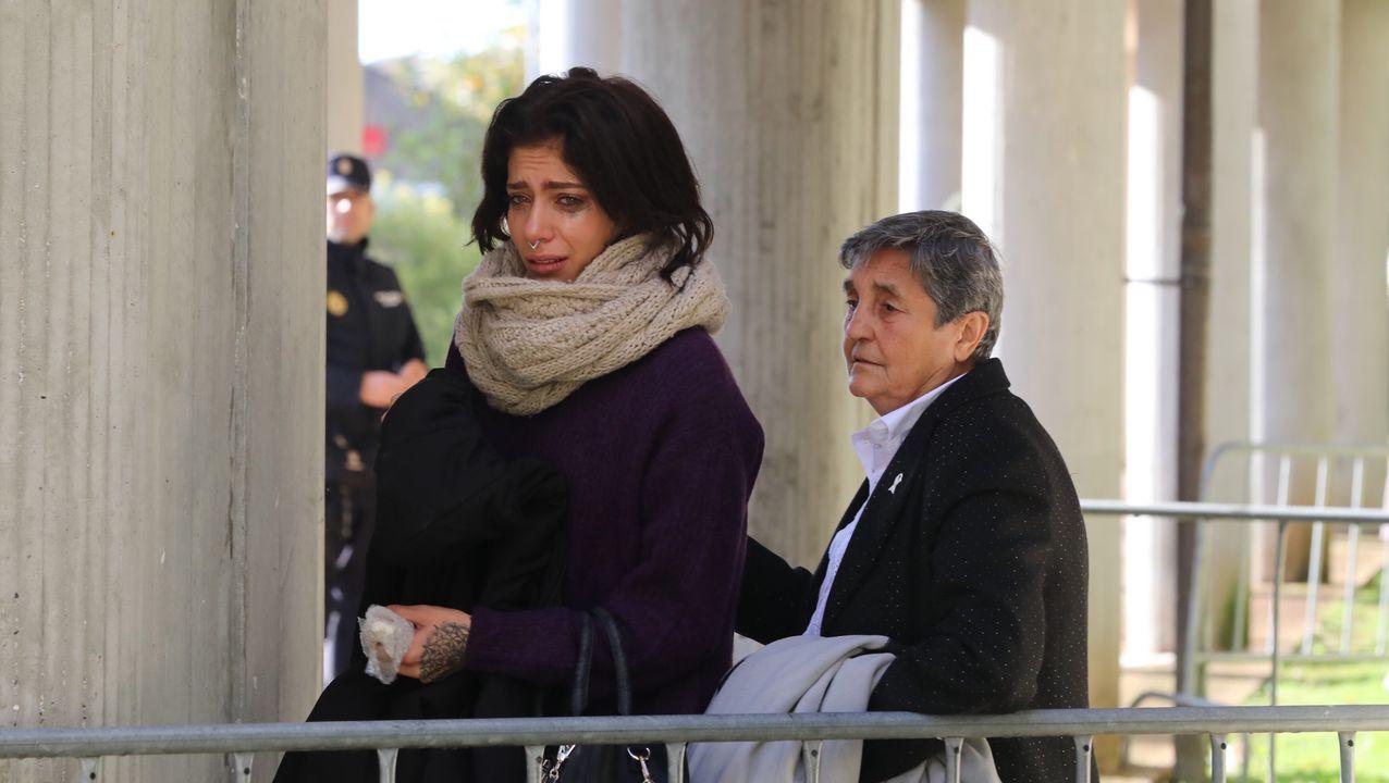 Valeria Quer, tras abandonar la sala donde se juzga al asesino confeso de su hermana Diana