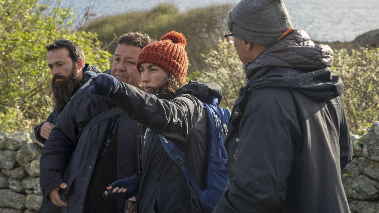A directora e guionista Paula Cons, durante a rodaxe da película na illa de Sálvora