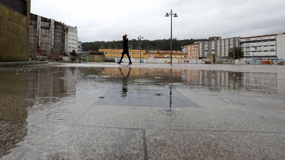 Pequeña inundación en Ribeira