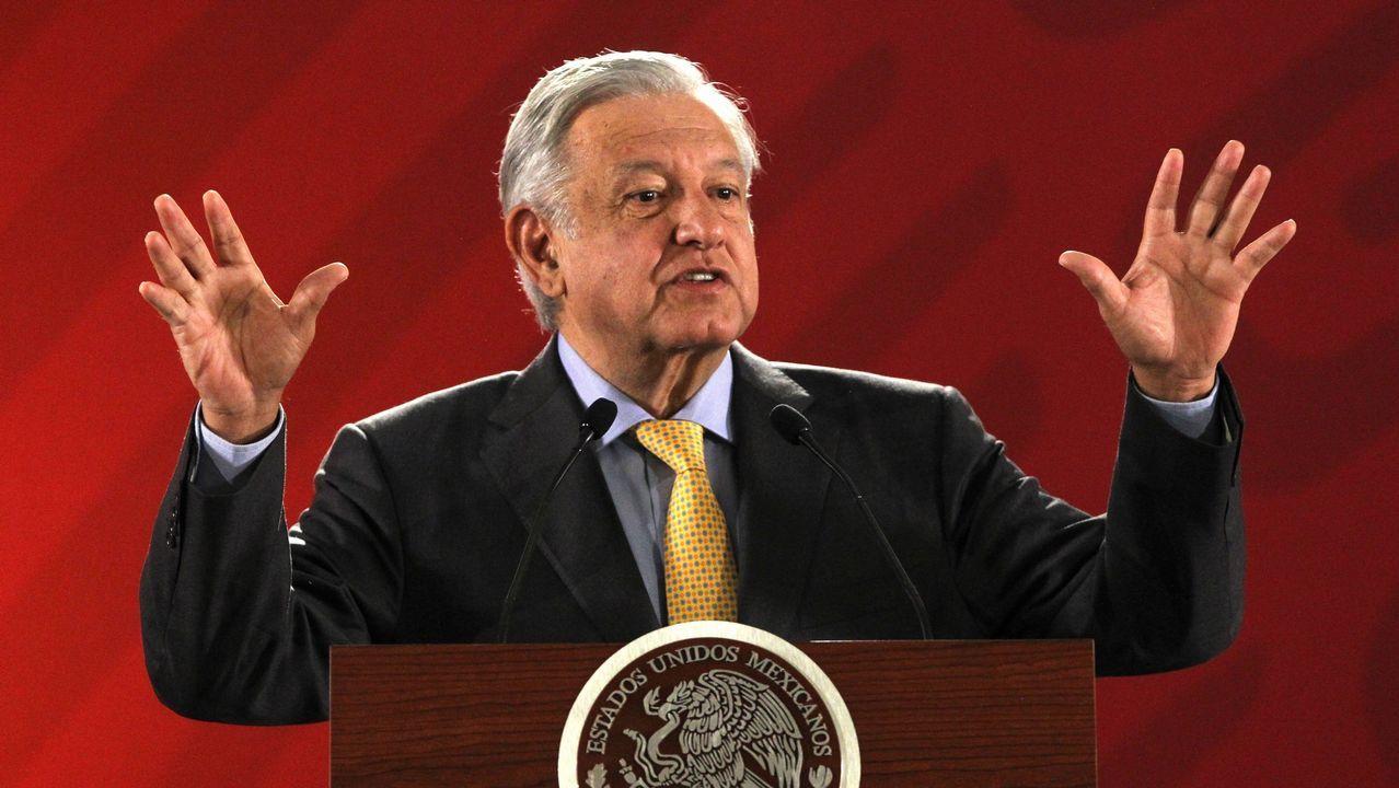   EFE. López Obrador, durante su rueda de prensa matutina en Palacio Nacional en Ciudad de México