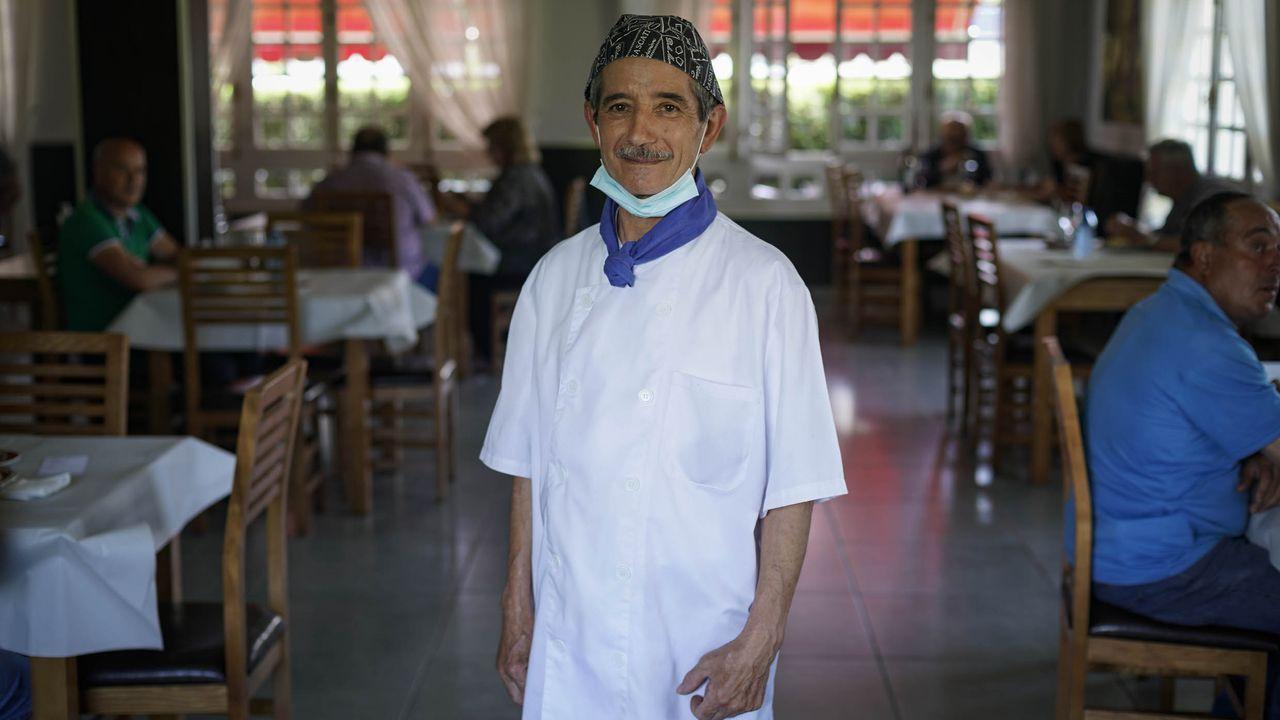 José Ojea Rodríguez en el restaurante Limia de Allariz