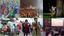 Collage actividades asturias verano desembarco tazones foodtruck fartukarte festival de la sidra cine de verano noches mágicas del botánico