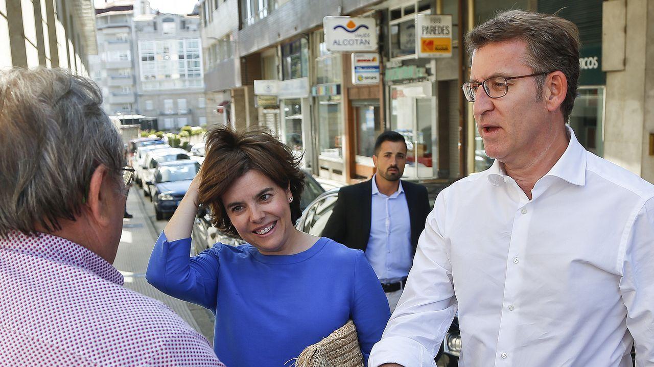 Feijoo advierte pese a su neutralidad: «Soraya ha tenido un resultado magnífico».Feijoo y Sáenz de Santamaría