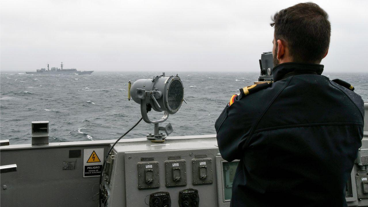 Regreso de la fragata Cristóbal Colón a Ferrol tras cinco meses con la OTAN.La Méndez Núñez se hizo a la mar desde el puerto rumano de Constanza tras relevar a la F-105