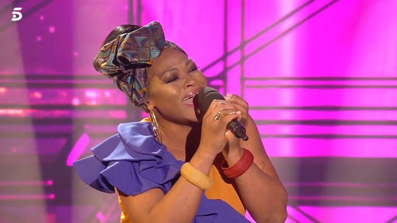 Cynthia, la soprano camerunesa afincada en Gijón y concursante de «Got Talent»
