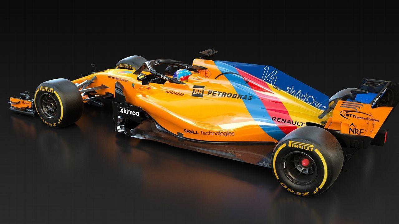 Alonso se despide por todo lo alto en Abu Dabi.El coche con el que saldrá a pista Fernando Alonso en su última carrera en la Fórmula 1