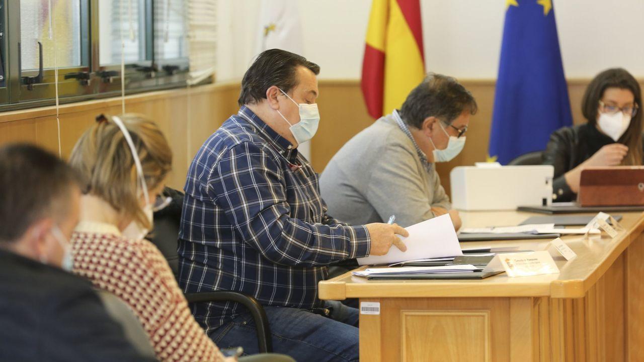 Pablo Casado, después de depositar su voto este martes
