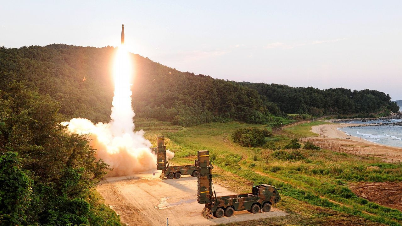 Fotografia distribuida por el ministerio de Defensa de Corea del Sur