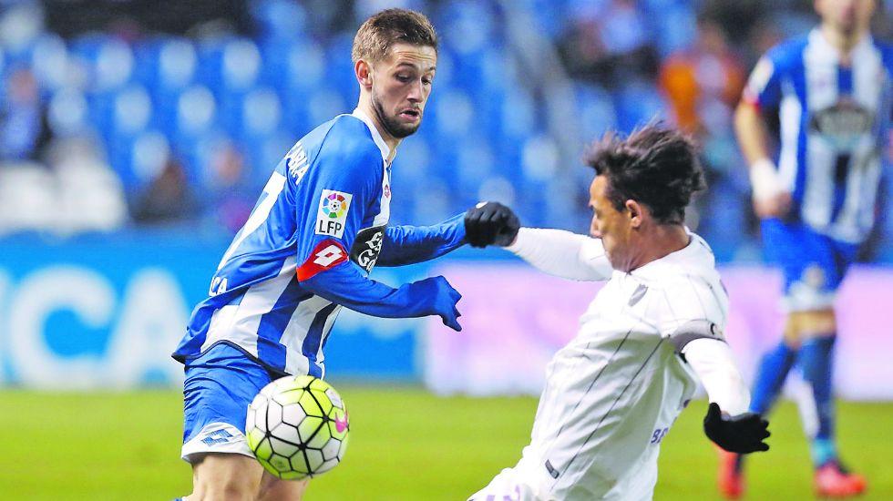 Fede Cartabria en una imagen de archivo frente al Málaga, regresará al Deportivo a partir del 1 de julio.