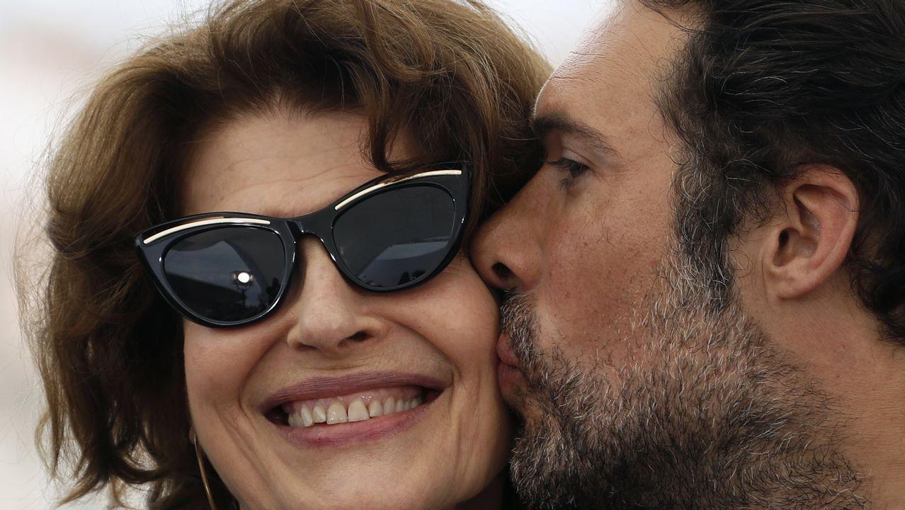 Nicolas Bedos y Fanny Ardant