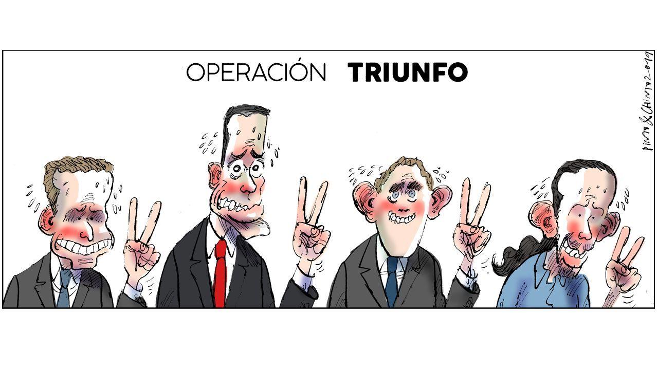 Casado reconoce un resultado «muy malo» y lo achaca a la «fragmentación».Álvarez de Toledo, de amarillo, y Arrimadas durante el debate de ayer en TV3
