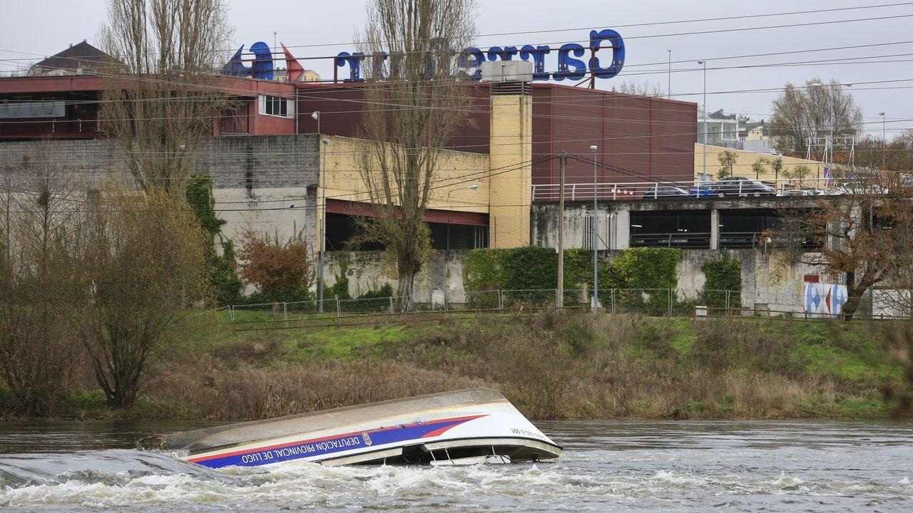 Los otros temporales que azotaron Ourense.El viaducto de Teixeiras, una de las estructuras que ponían en riesgo las obras del AVE