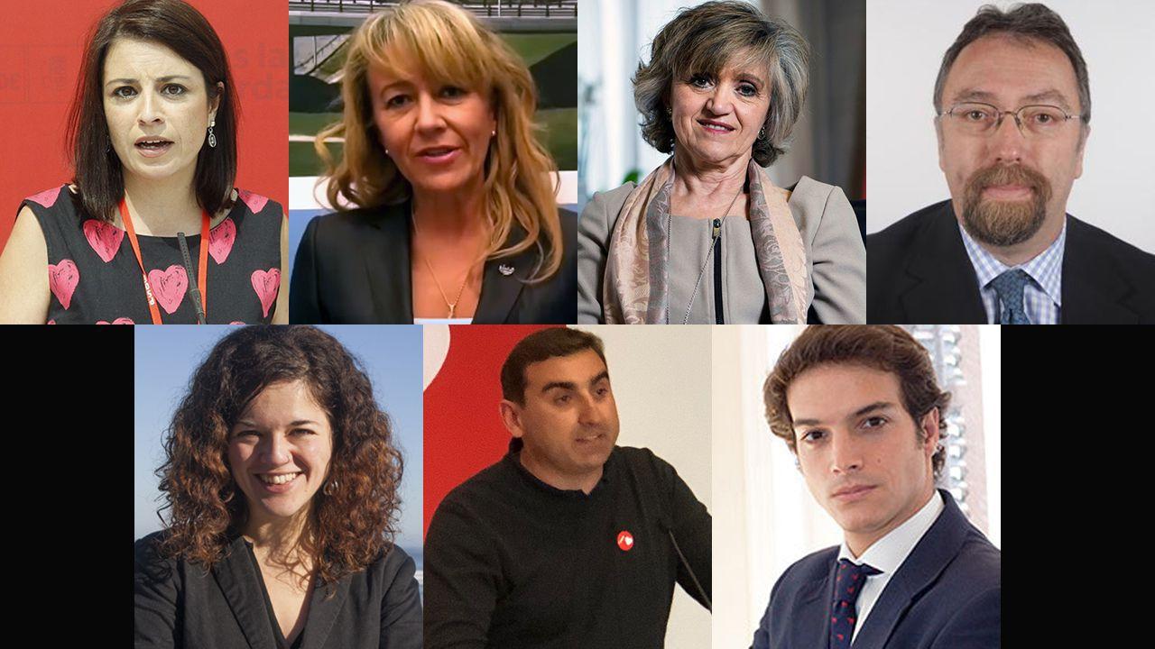 Diputados por Asturias tras el 10N
