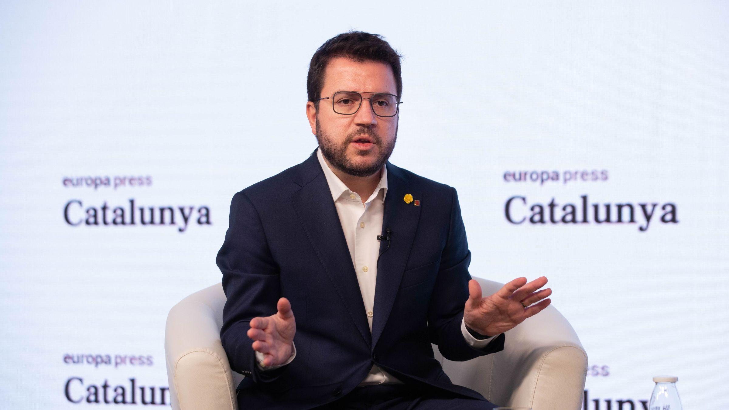 Pere Aragonès, presidente en funciones y candidato de ERC