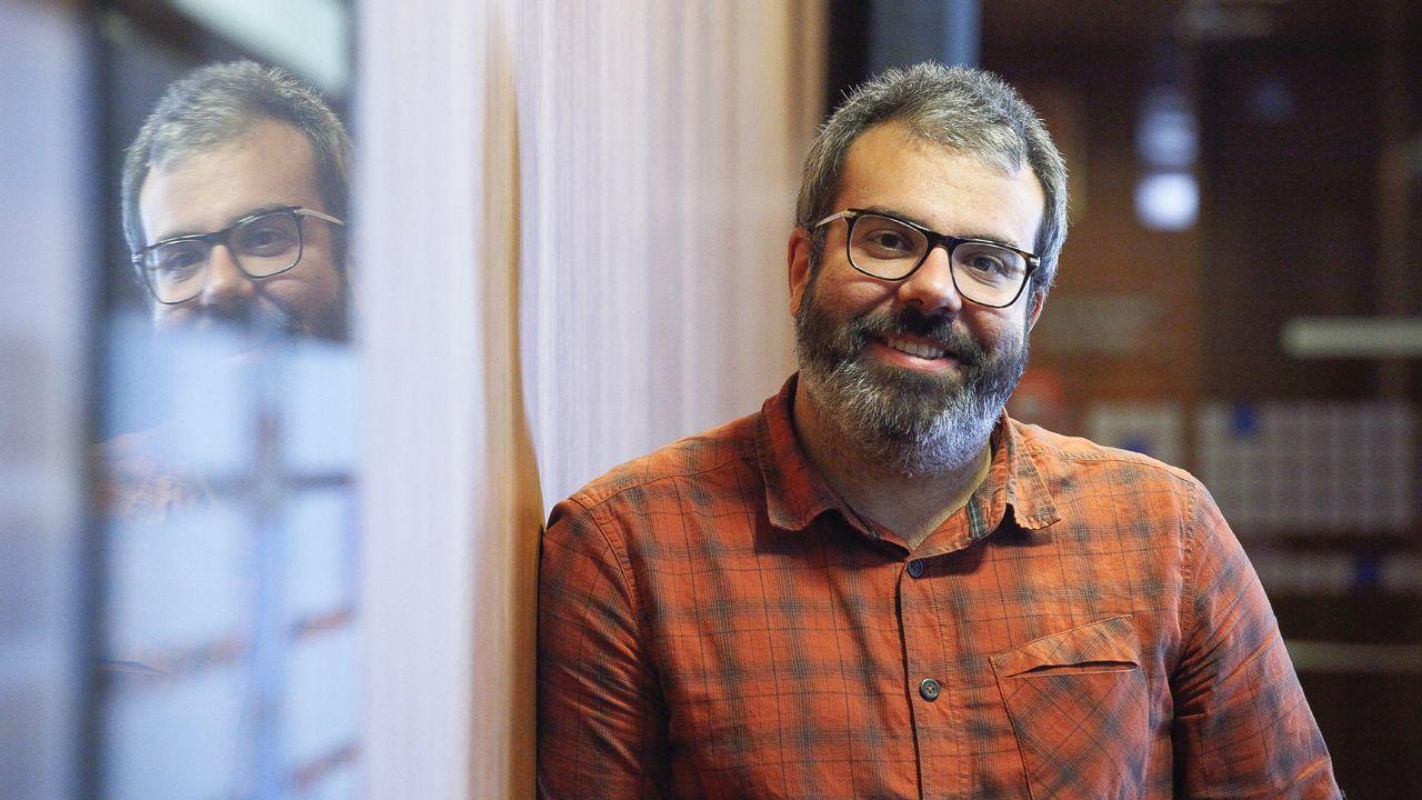 Isidro Martínez Oblanca.El responsable de Organización de Podemos Astures, Xuacu Rodríguez.