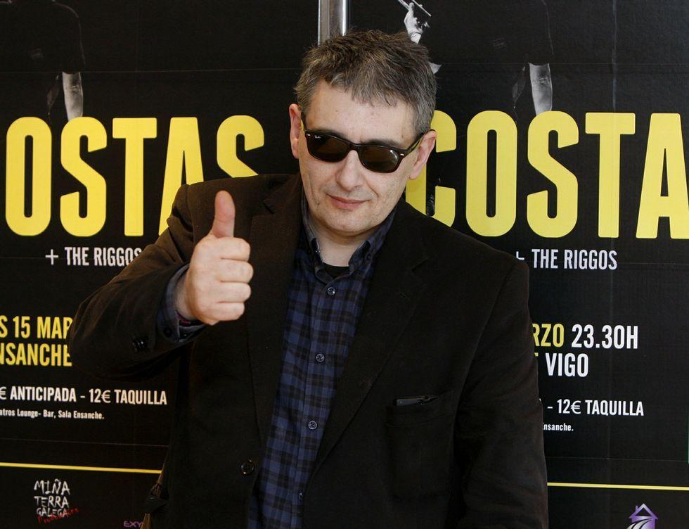 Miguel Costas en una presentación en Vigo