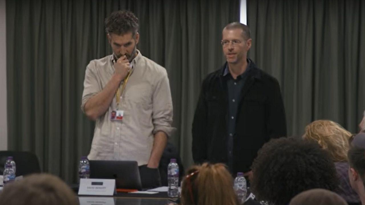 David Benioff y D.B. Weiss, en la última lectura de guion de «Juego de tronos»