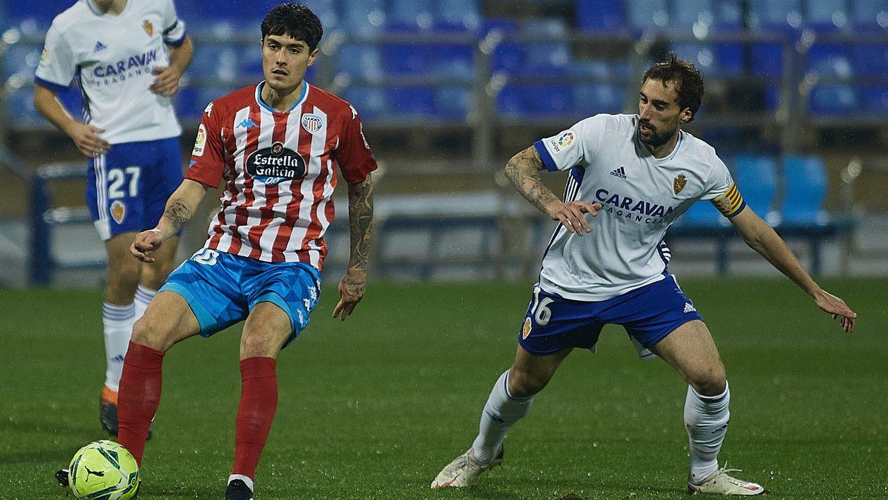 Edgar González, durante el partido ante el Castellón