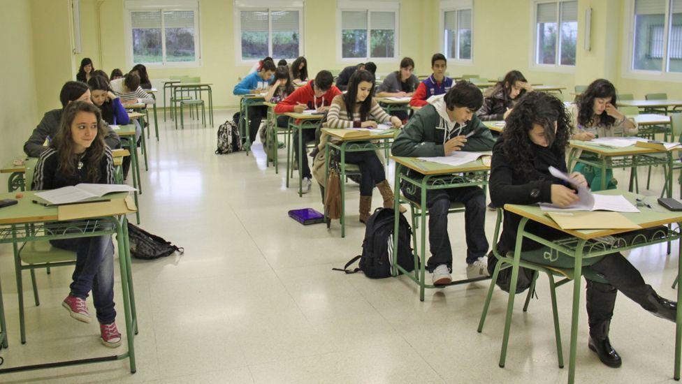 Imagen de archivo de alumnos gallegos en una prueba de PISA