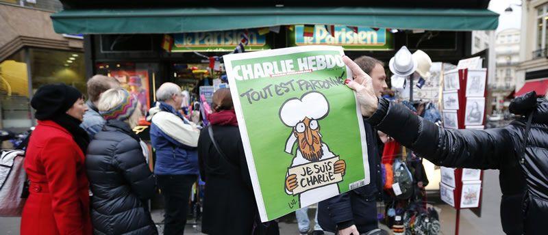 Colas para comprar «Charlie Hebdo».El Festival de San Sebastián será del 20 al 28