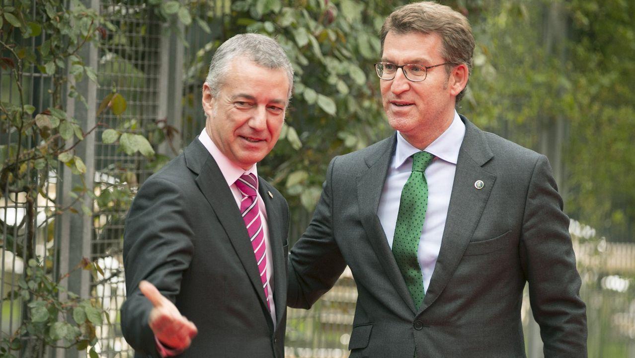 Feijjo, con Íñigo Urkullu, en una de sus visitas al País Vasco