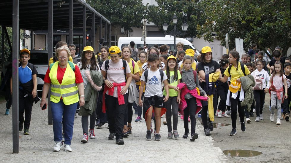 La de este miércoles fue la cuarta cuarta edición de la La de este miércoles fue la cuarta Andaina Escolar polo Camiño de Inverno, organizada por la asociación Camiños a Santiago pola Ribeira Sacra