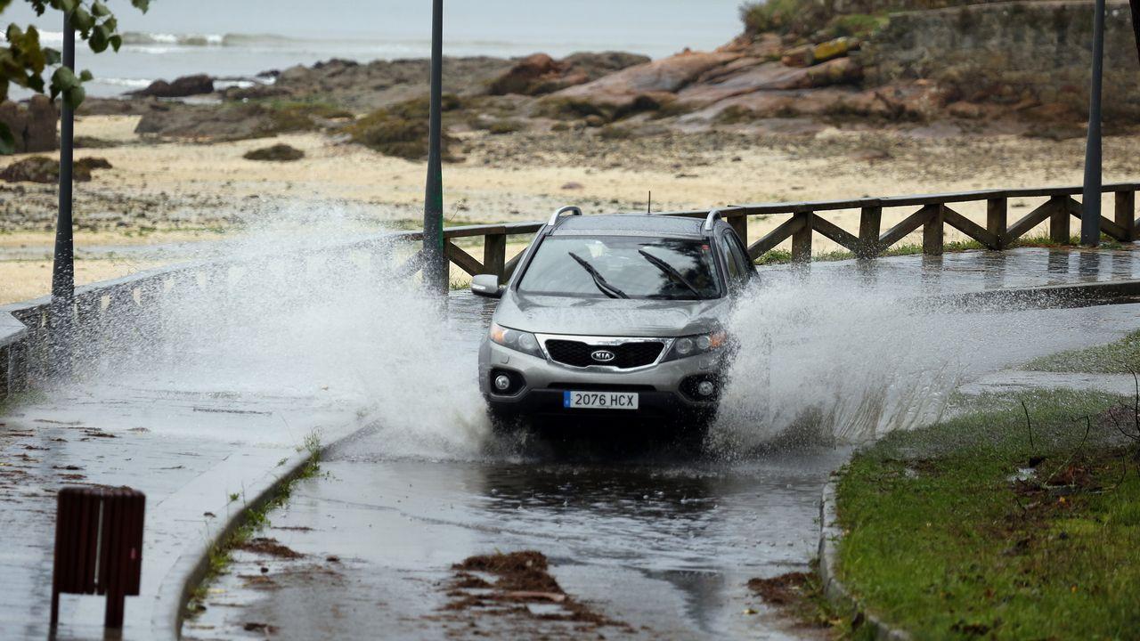 En la comarca de Barbanza también se han dejado notar los efectos del temporal