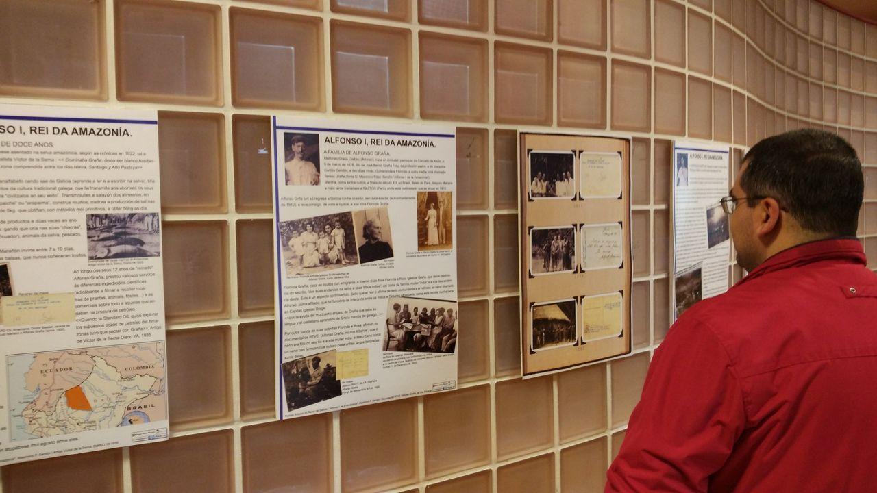 Actividad en la biblioteca de Verín, en imagen de archivo