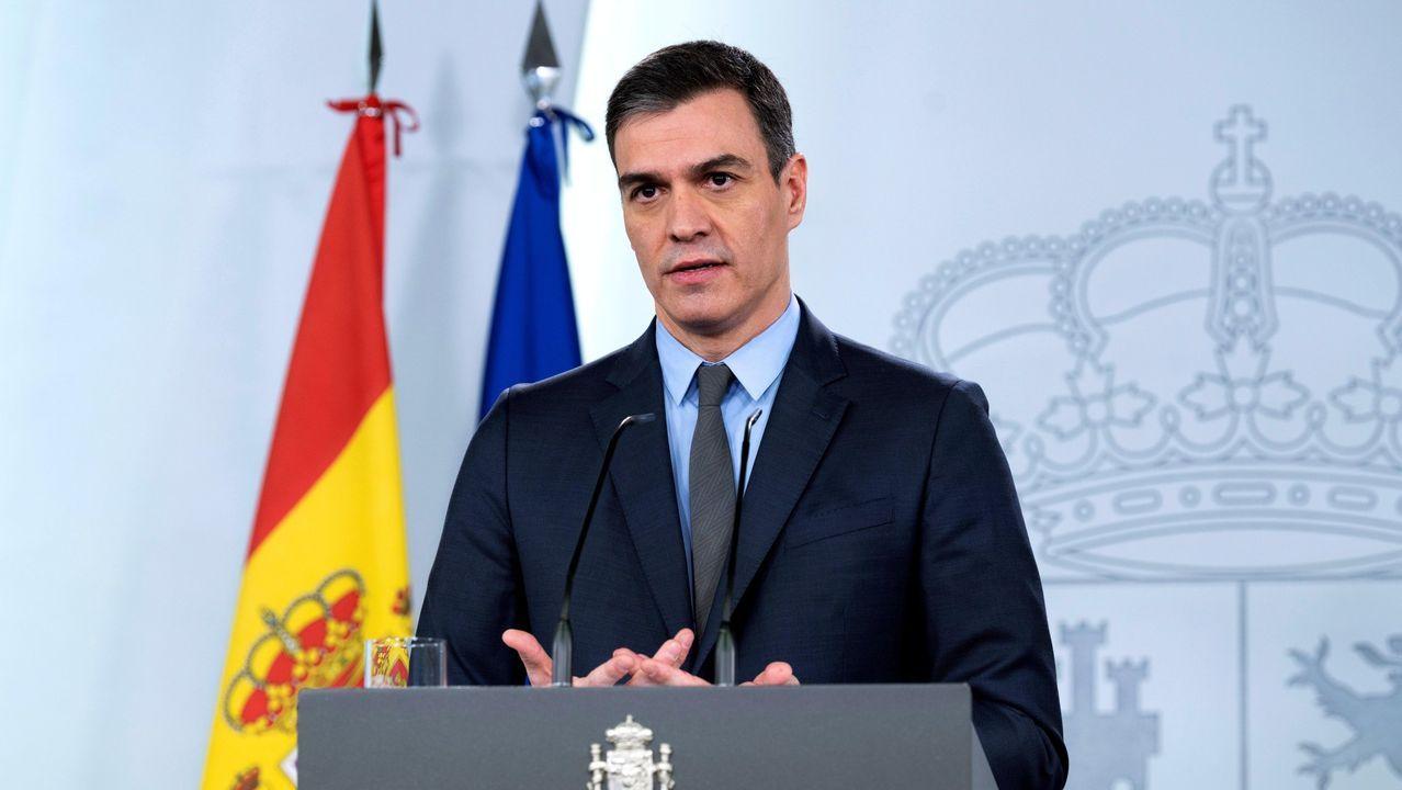 Comparecencia de Pedro Sánchez tras las consultas con los partidos políticos sobre la ampliación del confinamiento