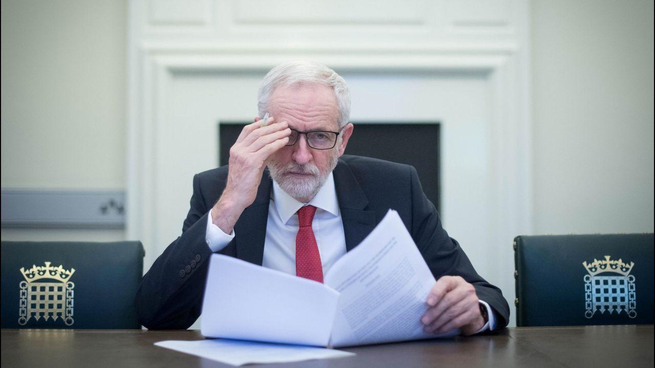 Jeremy Corbyn, en su despacho de la Cámara de los Comunes
