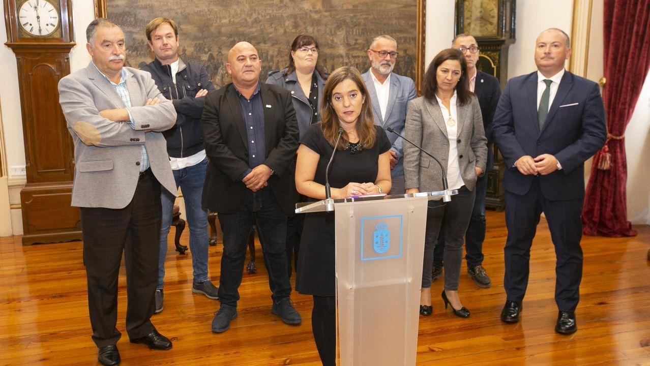 Imagen de archivo de un encuentro de la alcaldesa de A Coruña con los regidores del Consorcio As Mariñas