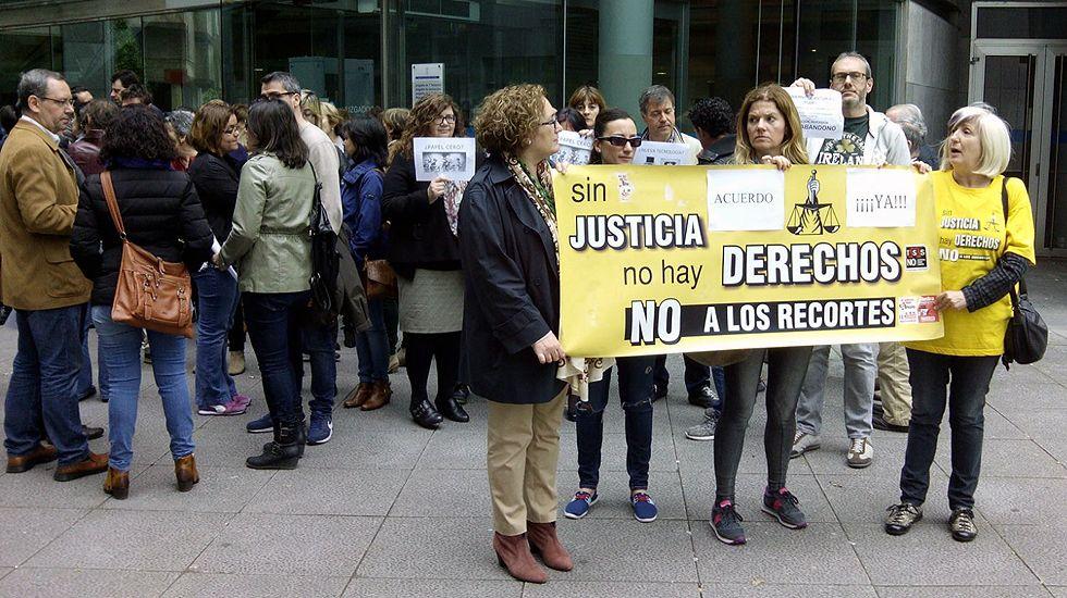 Concentración de funcionarios de justicia en Oviedo.Concentración de funcionarios de justicia en Oviedo