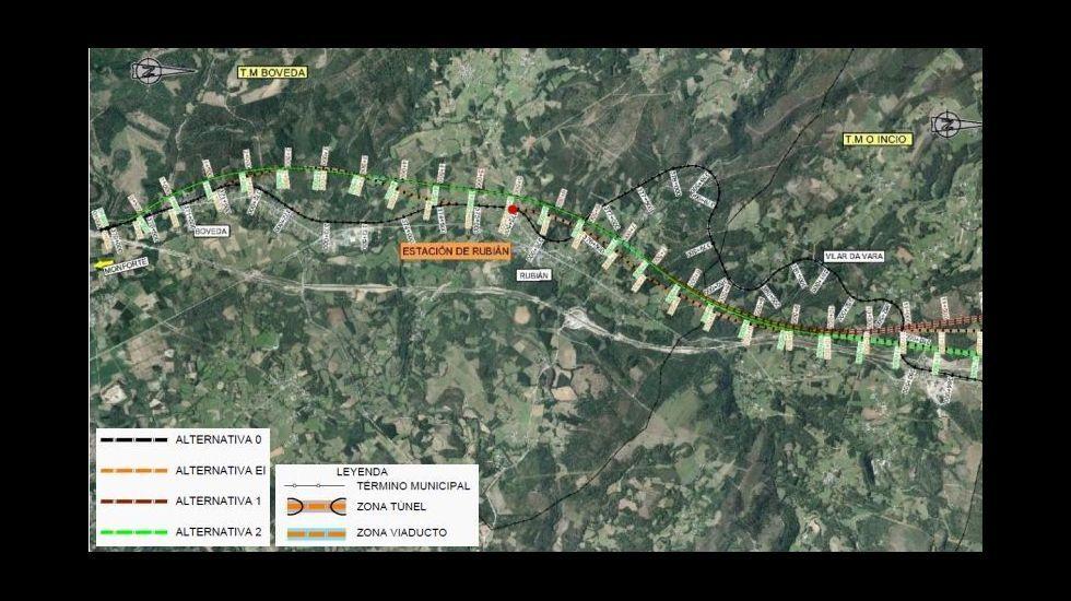 La variante de Rubián está ideada para salvar el desnivel entre el valle de Lemos y Sarria