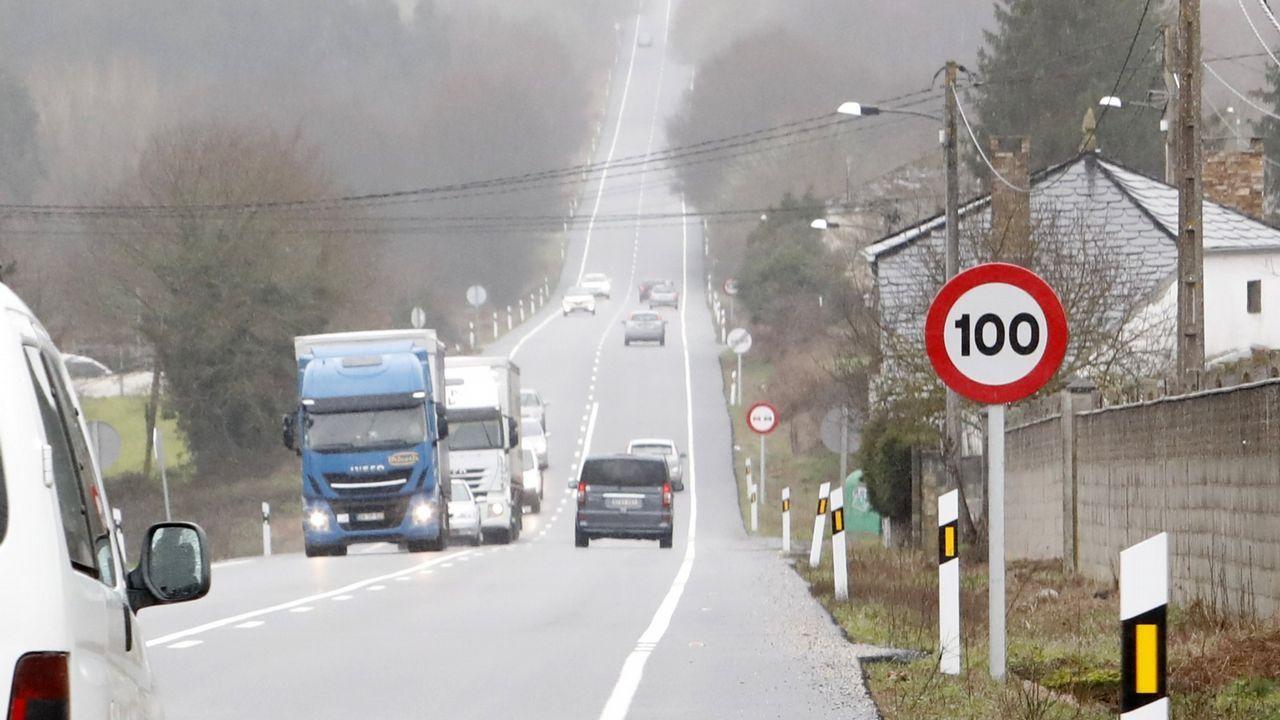 ¿Qué nuevas medidas de Tráfico se aprobarán mañana?.Sustitución de la señal de 100 por la de 90 en la carretera OU-531 en la provincia de Ourense