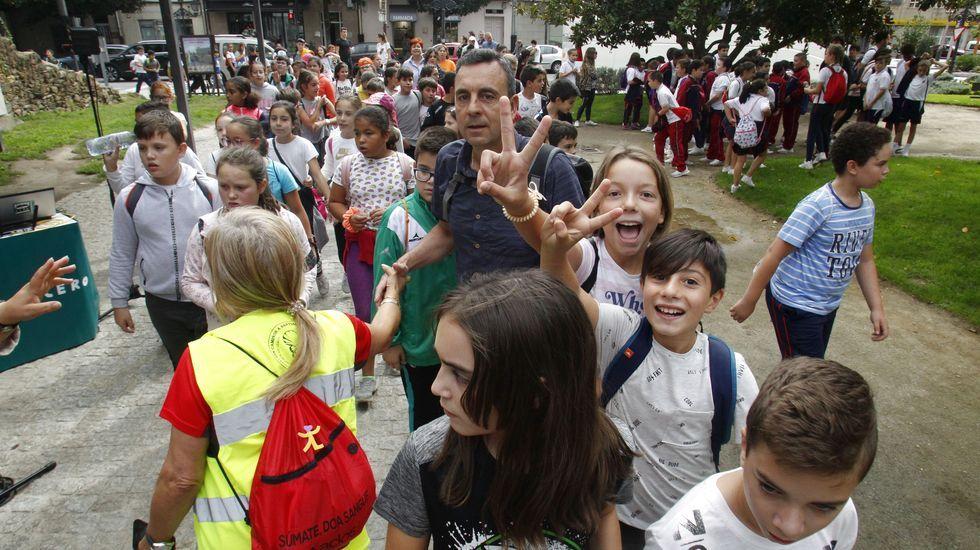 Unos 1.200 estudiantes de dieciocho colegios e institutos del sur de Lugo participaron en esta cuarta caminata por el Camino de Invierno