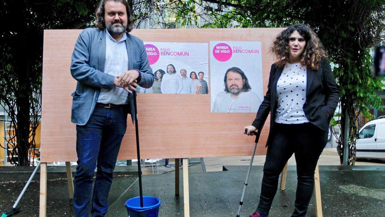 Estimación de voto en Vigo.Beiras acudió a la presentación de la candidatura de Marea Cidadá de Noia, que figura como afín a En Marea en su web
