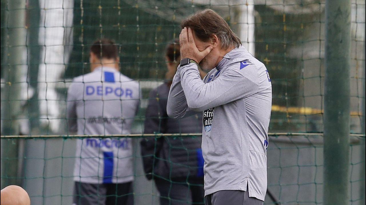 Las mejores imágenes del Deportivo - Almería.Anquela