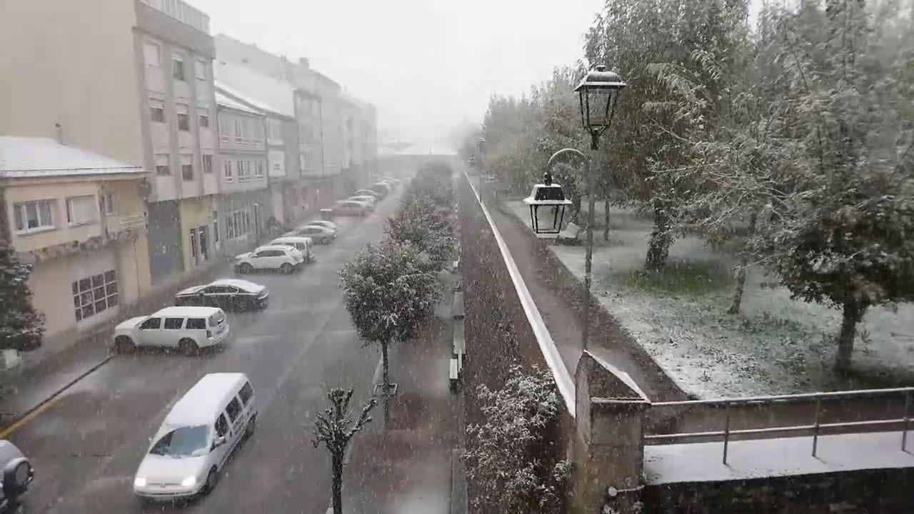 Primera nevada de la temporada en A Fonsagrada