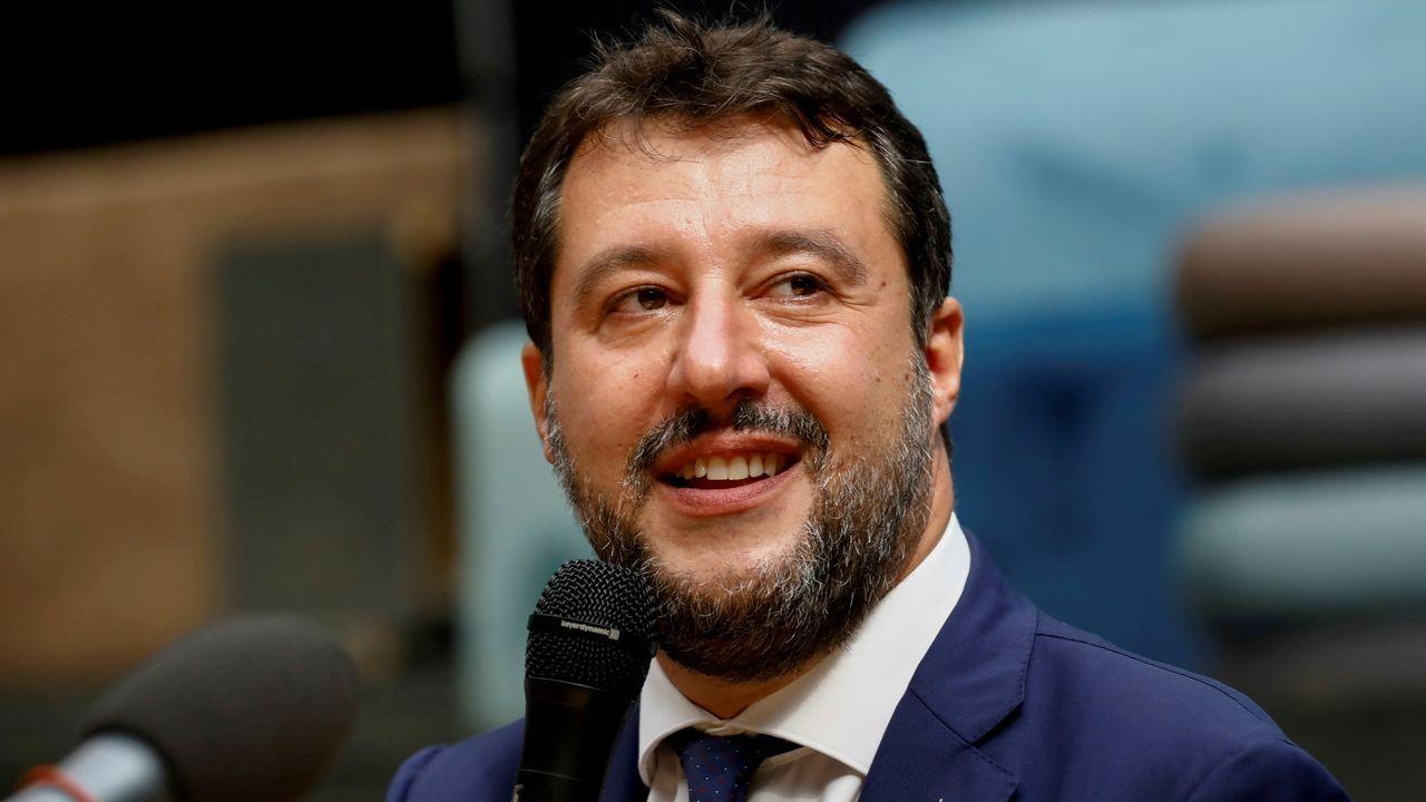 Matteo Salvini, líder de La Liga, partido al que pertenece el detenido