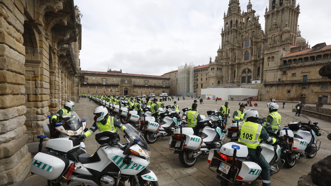 Peregrinación de la Guardia Civil de Tráfico.El autor del doble fratricidio en Los Santos de Maimona (Badajoz)