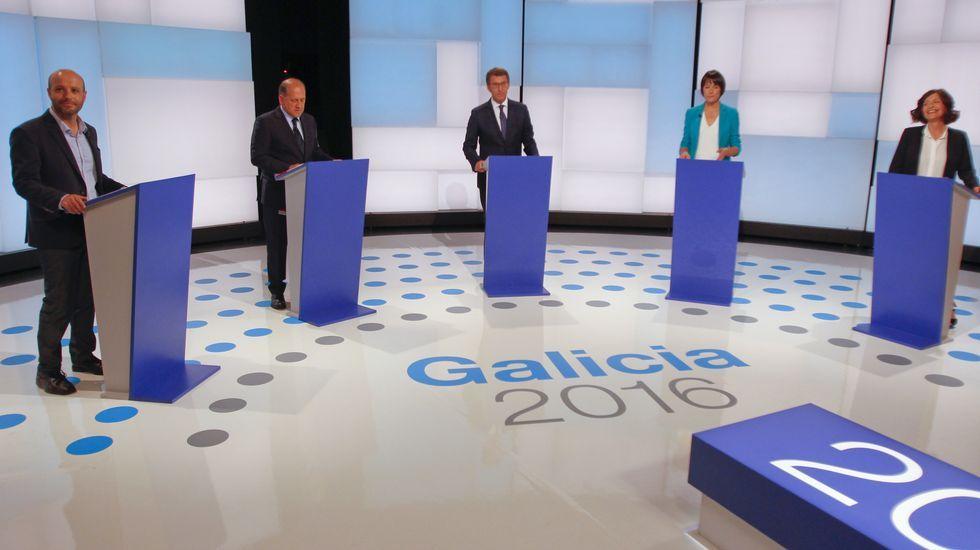 Las fotos del debate a cinco