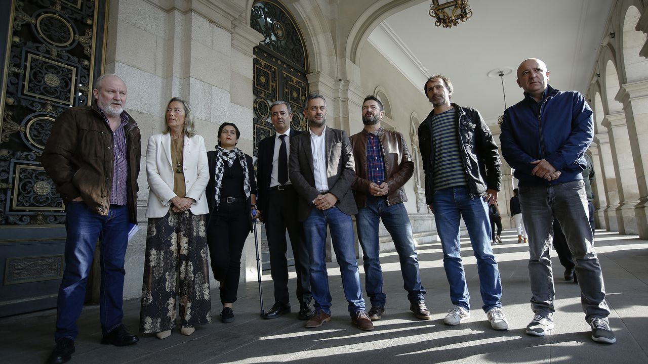 La protesta contra el cierre de Alcoa, en imágenes.PLENO EXTRAORDINARIO POR LA AMENAZA DE CIERRE DE ALCOA GOBIERNO Y OPOSICIÓN JOSE MANUEL GARCÍA PSOE AVIA VEIRA BNG ROSA GALLEGO PP XULIO FERREIRO MAREA ATLÁNTICA CONCEJALES COORPORACIÓN PLENO
