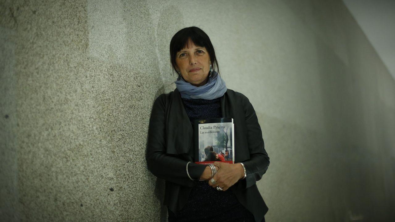 Claudia Piñeiro, durante una visita a Galicia en el 2017