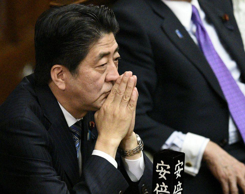 Shinzo Abe, primer ministro de Japón .