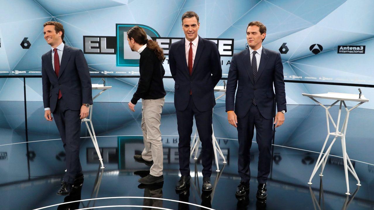 Casado, Iglesias, Sánchez y Rivera, en un debate previo a las elecciones de abril