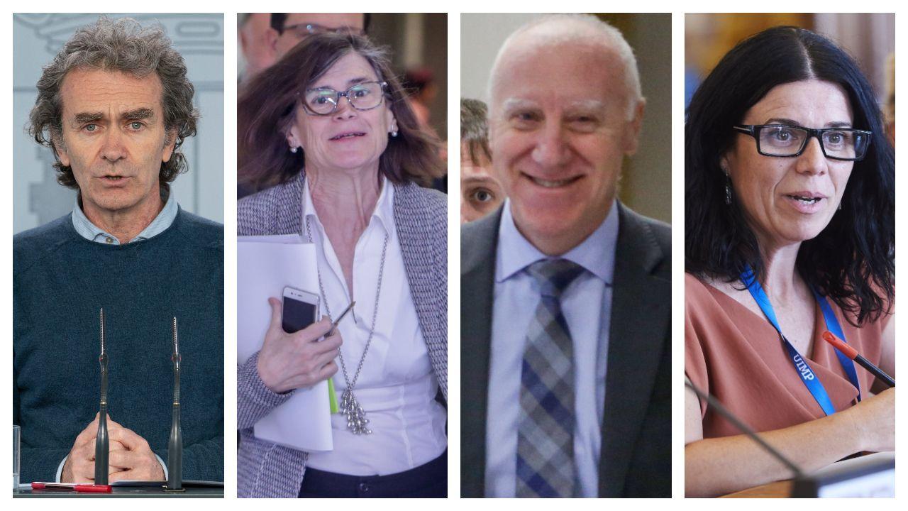 Amor, oración y homenajesa golpe de mascarilla.Fernando Simón, Pilar Aparicio, Faustino y Blanco y Patricia Lacruz