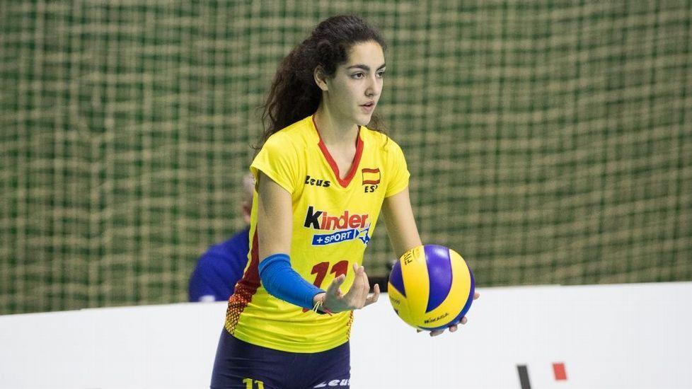 Final del Campeonato de Europa de Balonmano. Raúl Entrerríos en acción