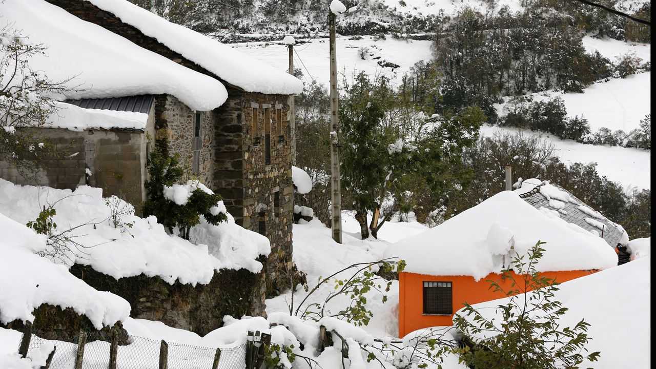 Imagen del temporal de nieve